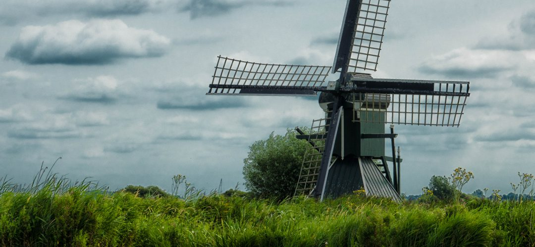 WM-Fotografen, molen in de friese polder